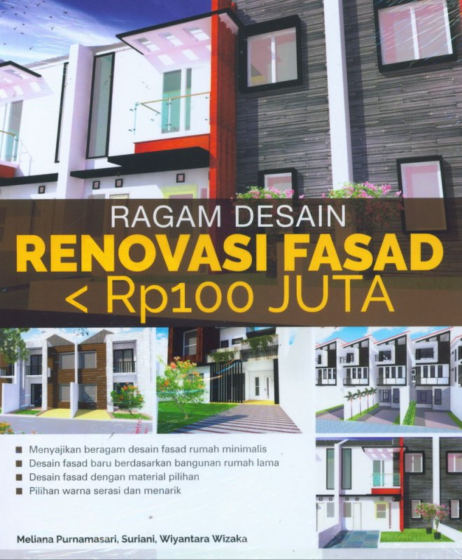 Cover Buku Ragam Desain Renovasi Fasad < Rp100 Juta