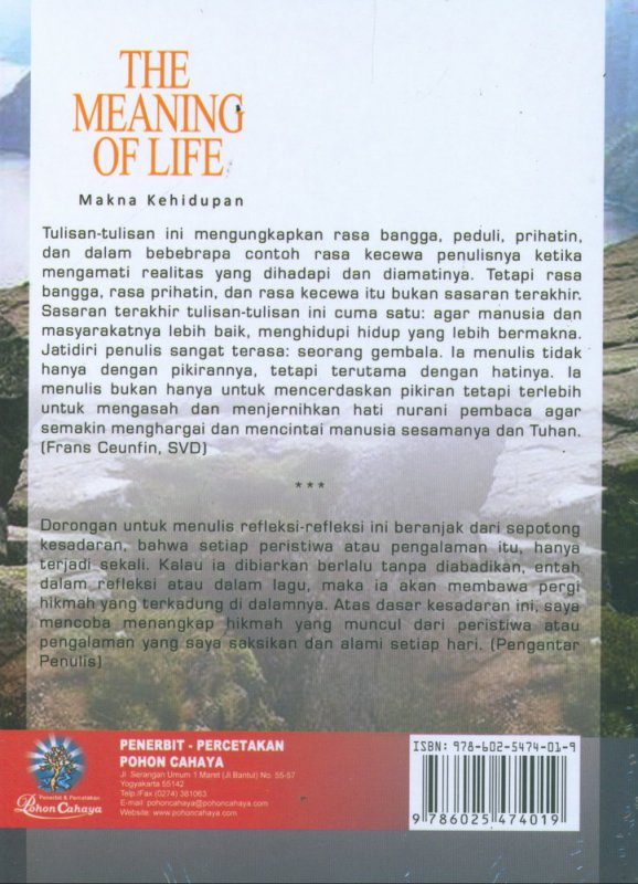 Cover The Meaning of Life - Makna Kehidupan