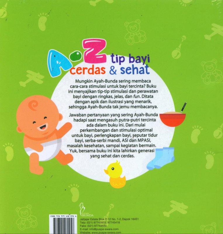 Cover Belakang Buku A-Z Tip Bayi Cerdas & Sehat