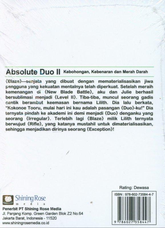 Cover Belakang Buku Absolute Duo II