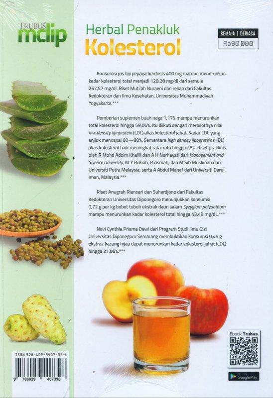 Cover Belakang Buku Herbal Penakluk Kolesterol