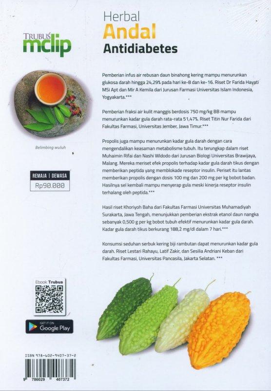 Cover Belakang Buku Herbal Andal Antidiabetes