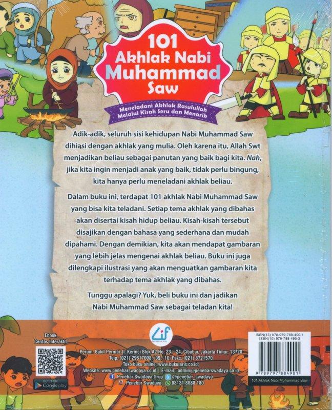 Cover Belakang Buku 101 Akhlak Nabi Muhammad Saw