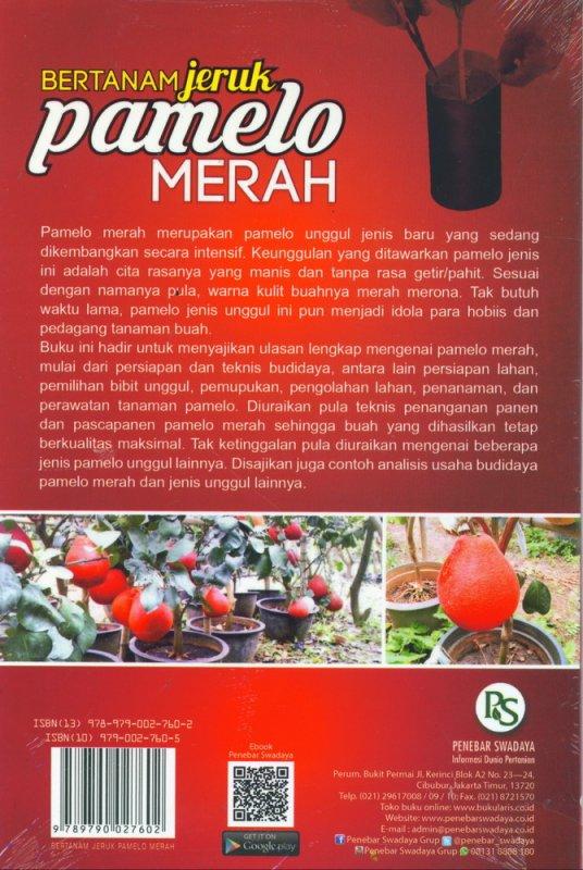 Cover Belakang Buku Bertanam Jeruk Pamelo Merah