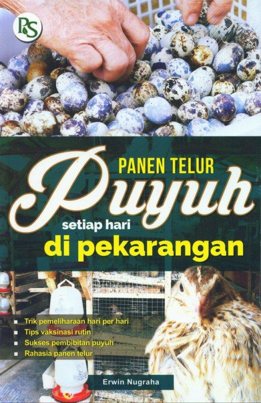 Cover Buku Panen Telur Puyuh Setiap Hari di Pekarangan