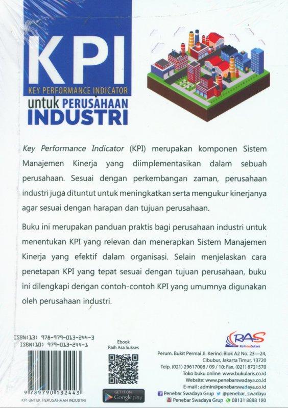 Cover Belakang Buku KPI Untuk Perusahaan Industri