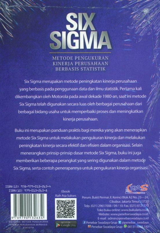 Cover Belakang Buku SIX SIGMA: Metode Pengukuran Kinerja Perusahaan Berbasis Statistik