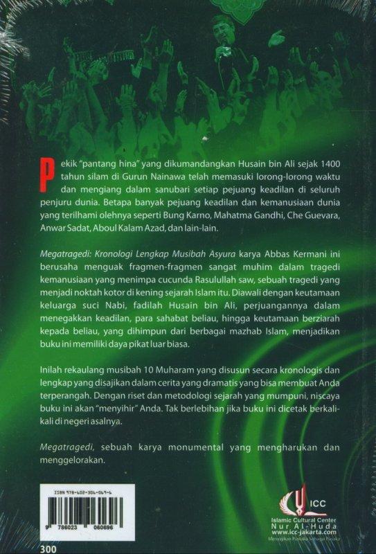 Cover Belakang Buku Megatragedi: Kronologi Lengkap Musibah Asyura
