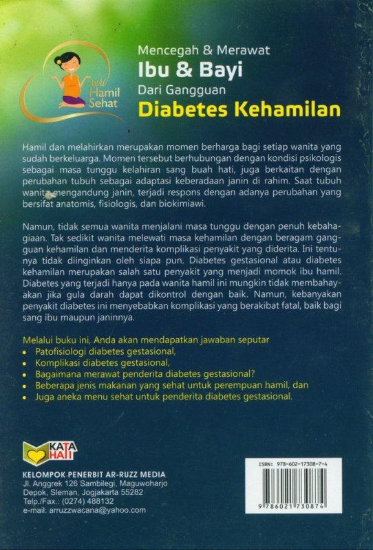 Cover Belakang Buku Mencegah & Merawat Ibu & Bayi Dari Gangguan Diabetes Kehamilan