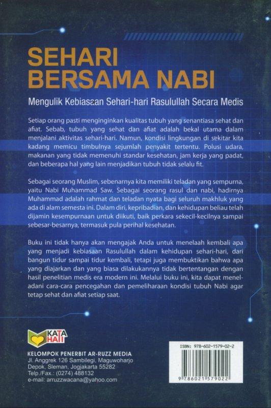 Cover Belakang Buku Sehari Bersama Nabi