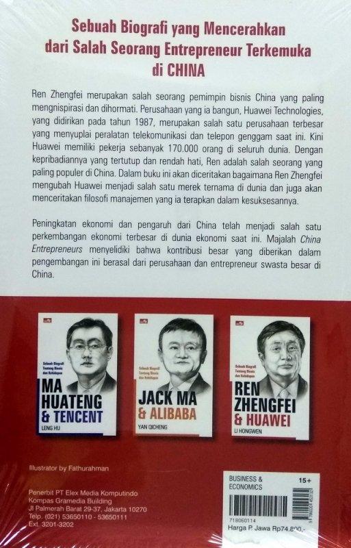 Cover Belakang Buku Ren Zhengfei & Huawei