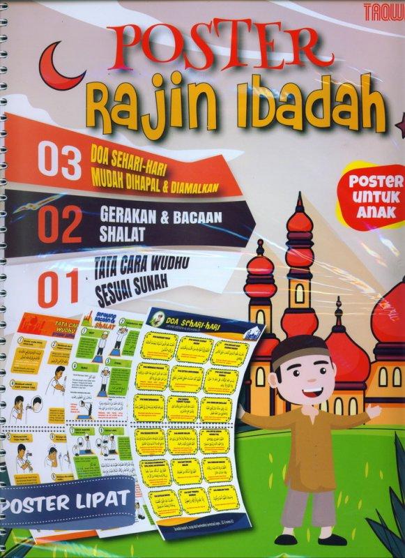 Cover Buku Poster Rajin Ibadah Poster Untuk Anak