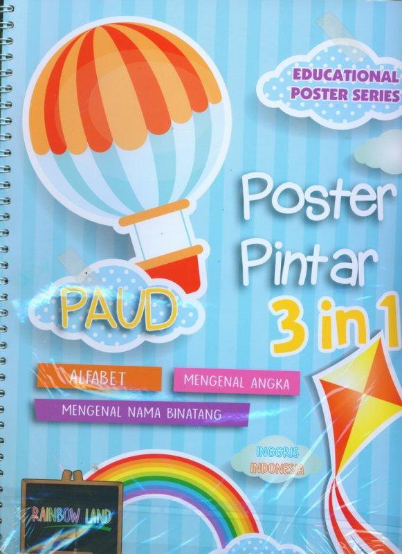 Cover Buku Poster Pintar 3 in 1: ALFABET, MENGENAL ANGKA, MENGENAL BINATANG