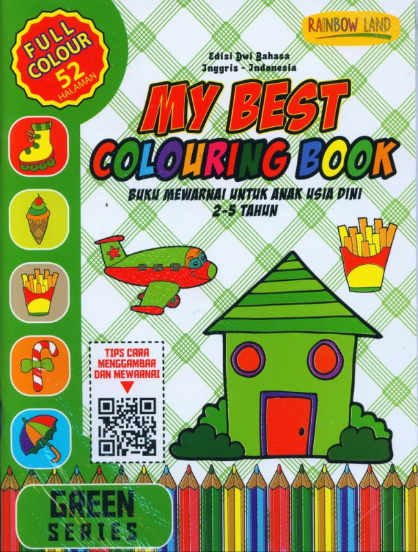 Cover Buku Green Series: My Best Colouring Book