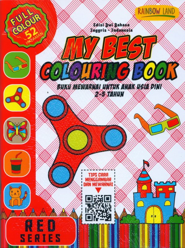 Cover Buku Red Series : My Best Colouring Book