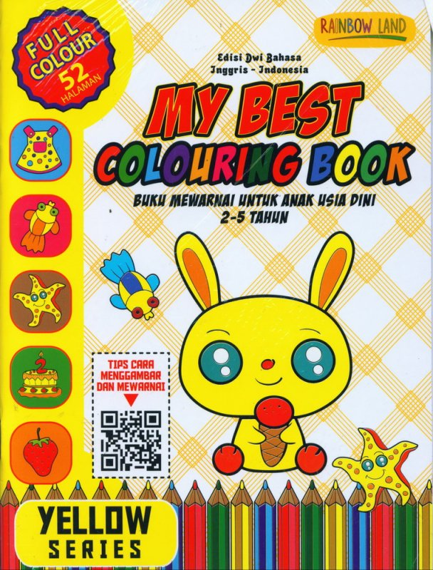 Cover Buku Yellow Series : My Best Colouring Book