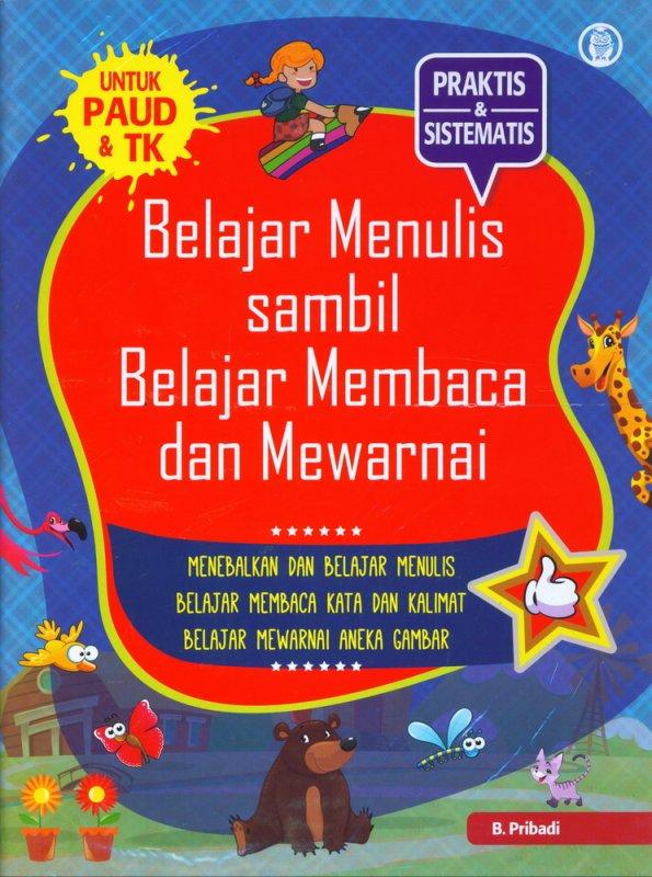 Cover Buku Belajar Menulis Sambil Belajar Membaca dan mewarnai