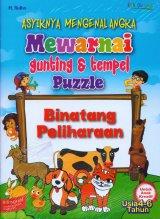 Asyiknya Mengenal Angka Mewarnai Gunting & tempel Puzzle