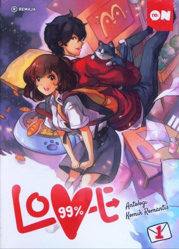 Cover Buku 99% Love Vol 1 - Antologi Komik Romantis