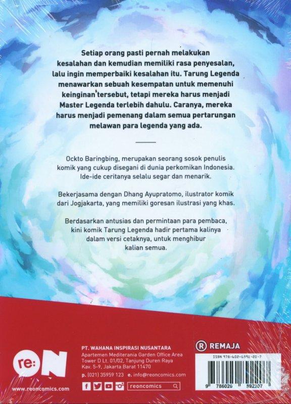 Cover Belakang Buku Tarung Legenda Vol 01
