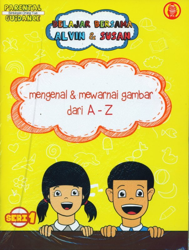 Cover Buku Belajar Bersama Alvin & Susan: Mengenal & Mewarnai Gambar dari A-Z (Seri 1)