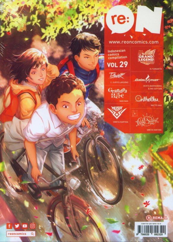 Cover Depan Buku RE:ON COMICS VOL. 29 PERIODICAL COMICS COMPILATION