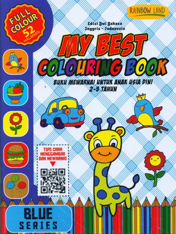 Cover Buku Blue Series : My Best Colouring Book