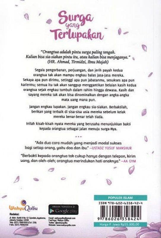 Cover Belakang Buku Surga Yang Terlupakan (Promo Best Book)