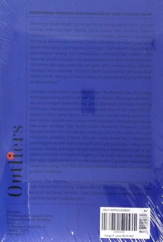 Cover Belakang Buku OUTLIERS: Rahasia di Balik Kesuksesan