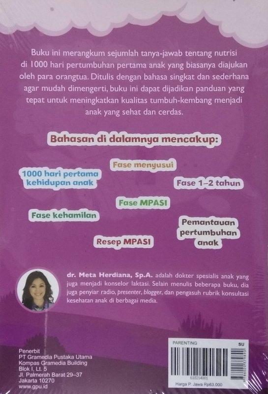 Cover Belakang Buku Mommyclopedia: Tanya-jawab tentang nutrisi di 1000 hari pertama kehidupan anak