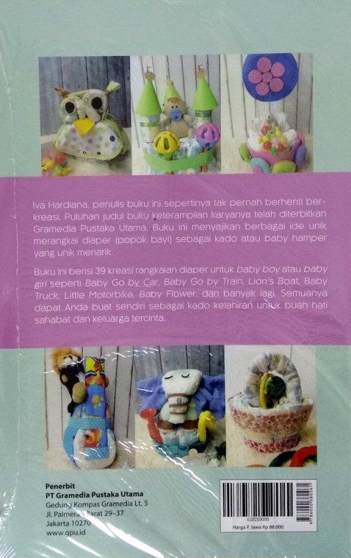 Cover Belakang Buku Kreasi Baby Hamper - Kado Kelahiran Bayi dari Baby Diaper