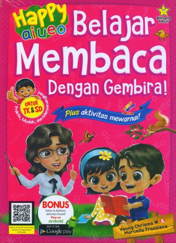 Cover Buku Happy aiueo Belajar Membaca Dengan Gembira