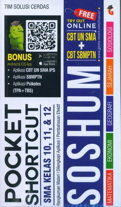 Cover Buku Pocket Shortcut SOSHUM SMA Kelas 10, 11, 12