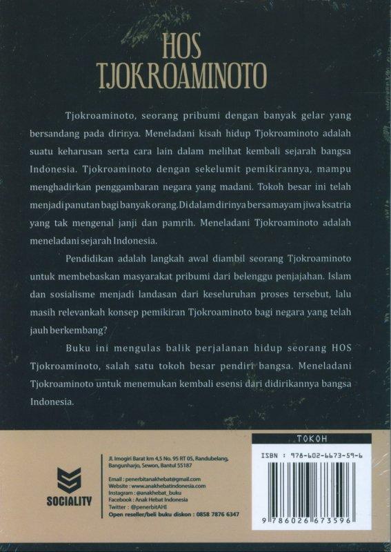 Cover Belakang Buku Hos Tjokroaminoto