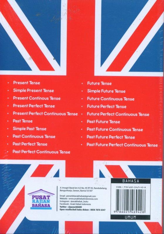Cover Belakang Buku 1 Jam Kuasai 16 Tenses Bahasa Inggris