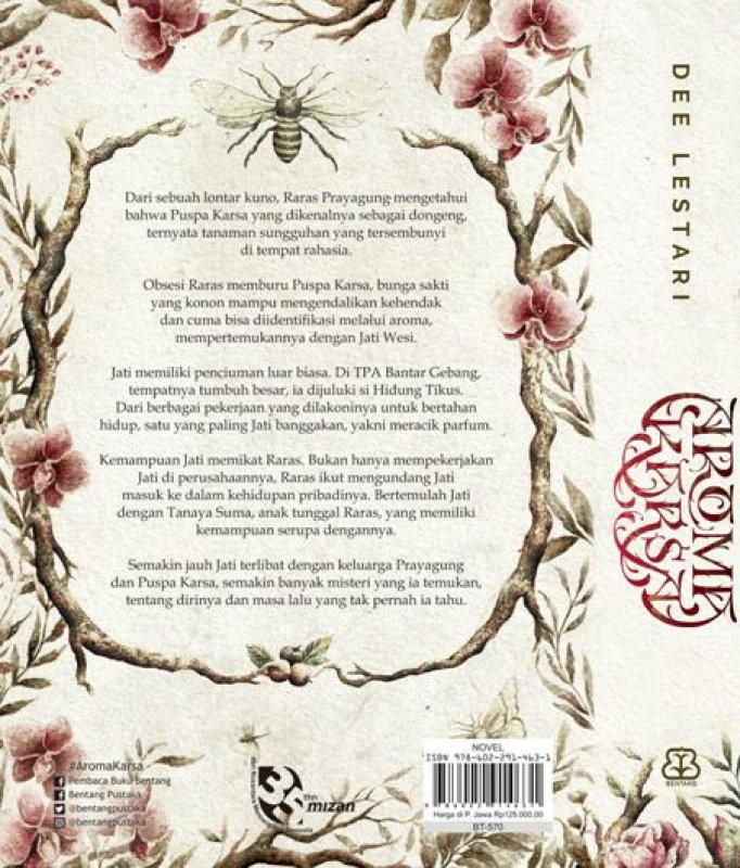 Cover Belakang Buku Aroma Karsa karya Dee Lestari - Edisi Reguler