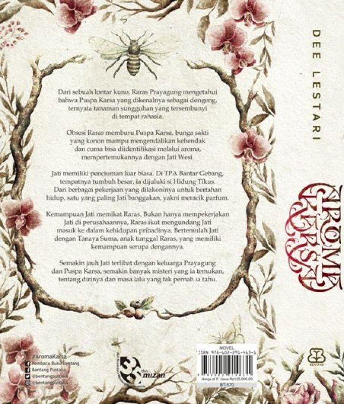 Cover Belakang Buku Aroma Karsa Edisi Reguler Dee Lestari [Pre-Order]