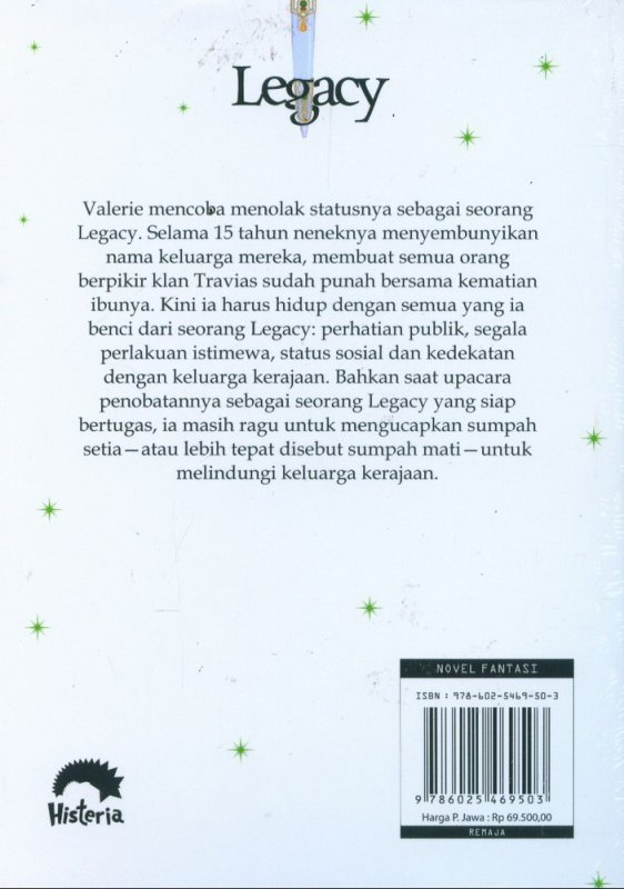Cover Belakang Buku Legacy