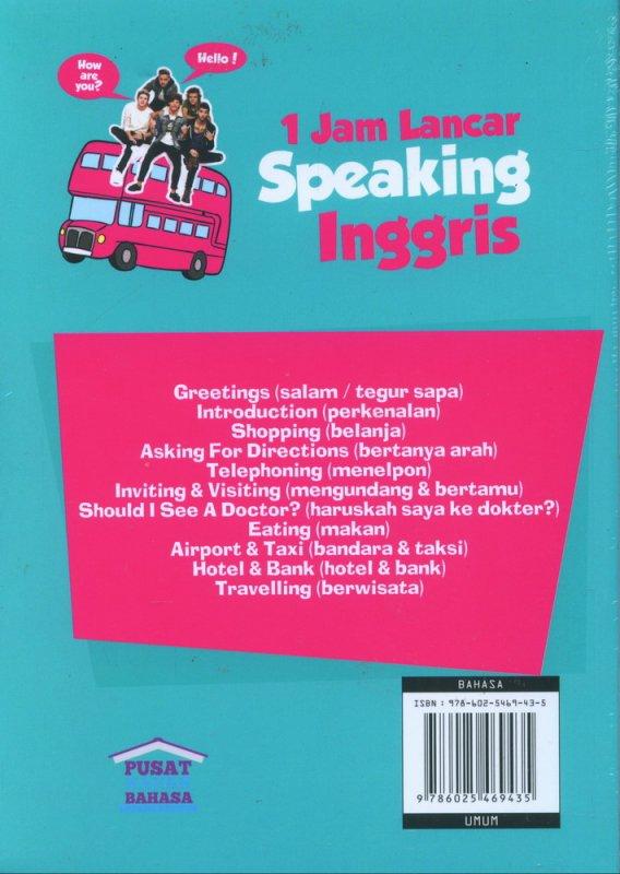 Cover Belakang Buku 1 Jam Lancar Speaking Inggris