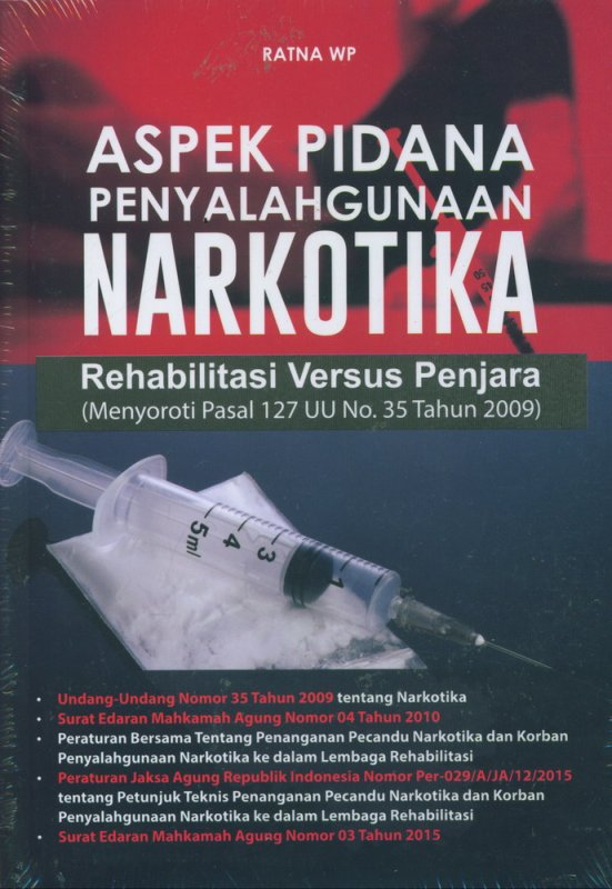 Cover Buku Aspek Pidana Penyalahgunaan Narkotika