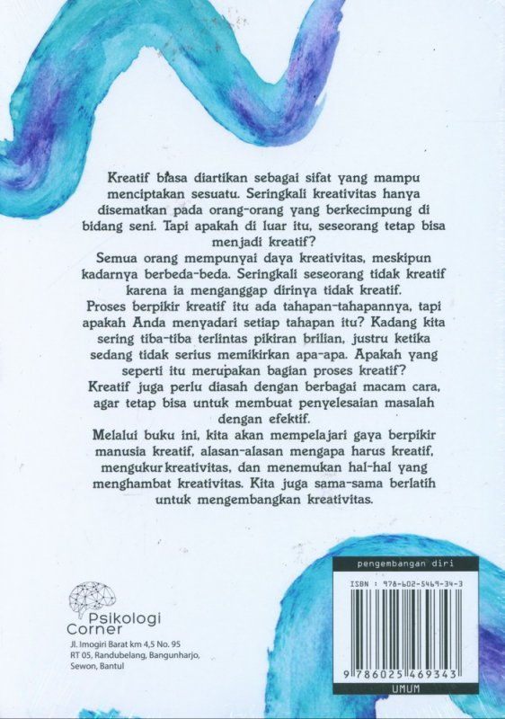 Cover Belakang Buku Being An Amazingly Creative Person