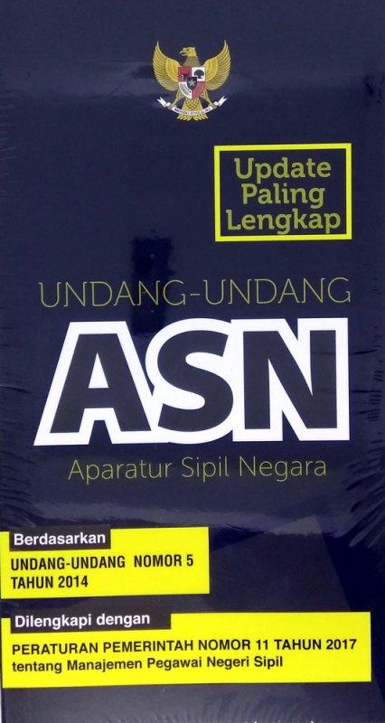 Cover Buku UU Aparatur Sipil Negara ASN