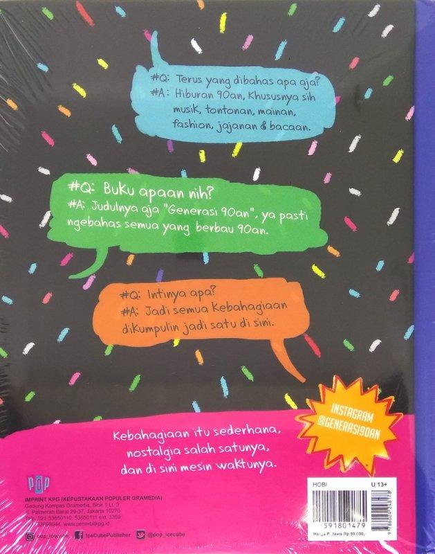 Cover Belakang Buku Generasi 90an Jilid 1