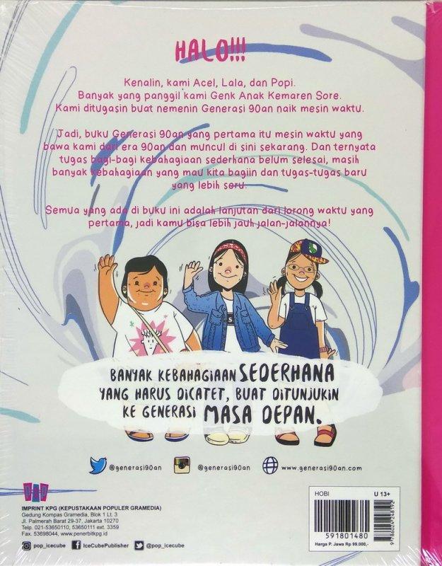 Cover Belakang Buku Generasi 90An: Anak Kemaren Sore Jilid 2