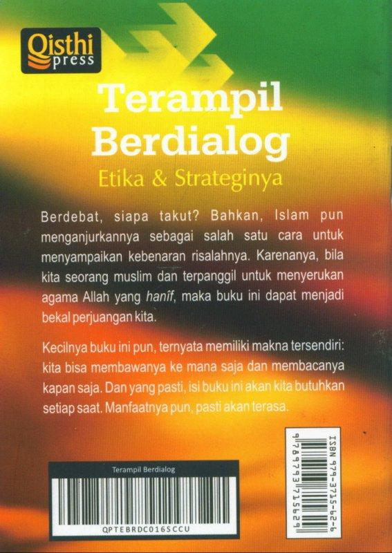 Cover Belakang Buku Terampil Berdialog Etika & Strateginya (Buku saku)