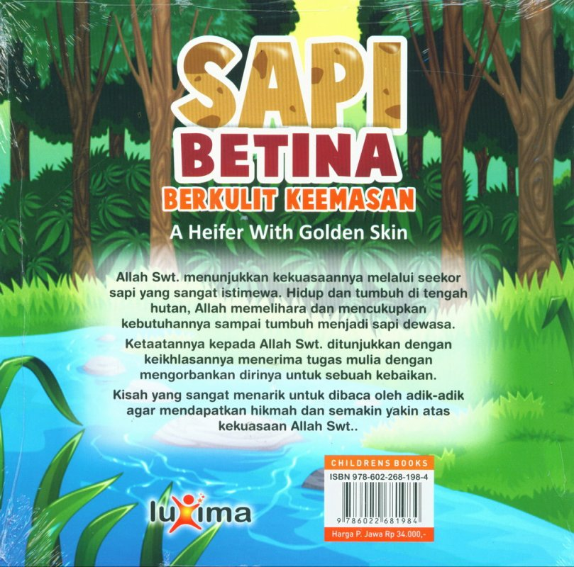 Cover Belakang Buku Sapi Betina Berkulit Keemasan - A Heifer With Golden Skin (Bilingual)