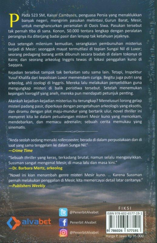 Cover Belakang Buku Misteri Pasukan Cambyses