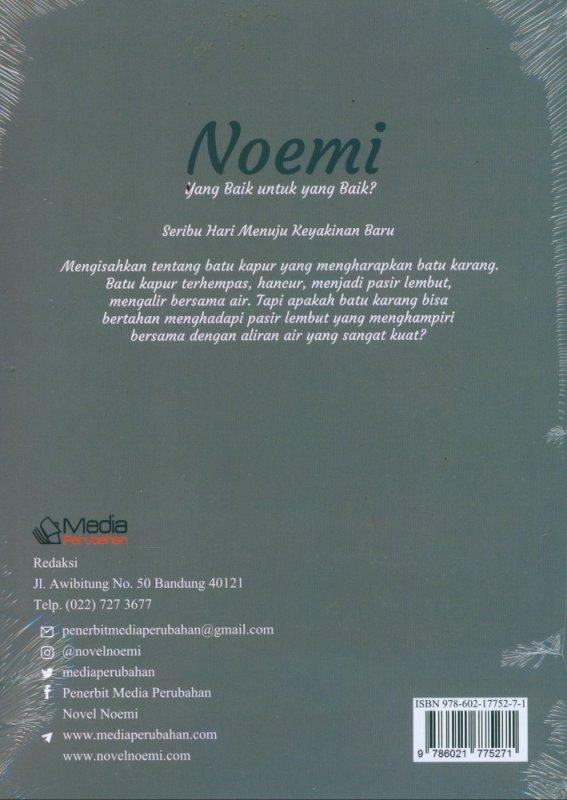 Cover Belakang Buku Noemi yang Baik untuk yang Baik?