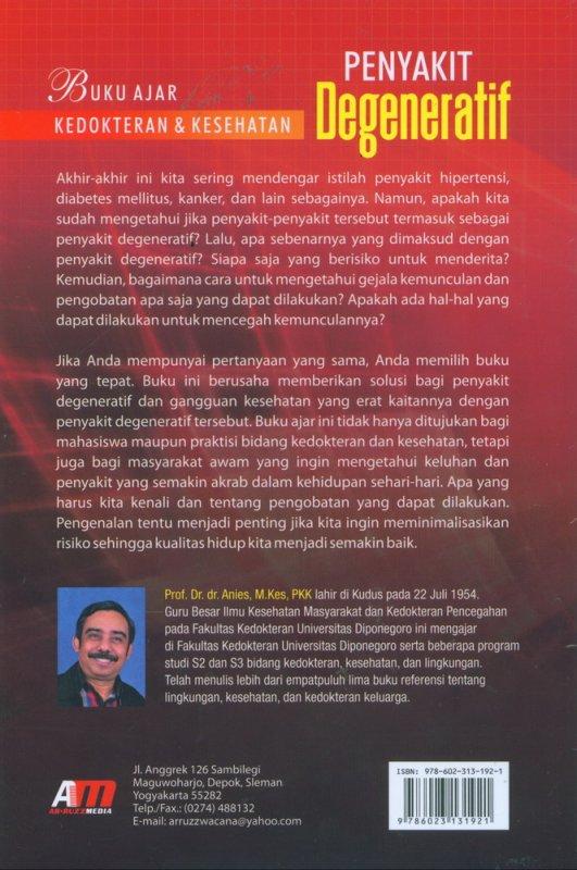 Cover Belakang Buku Buku Ajar Kedokteran & Kesehatan Penyakit Degeneratif