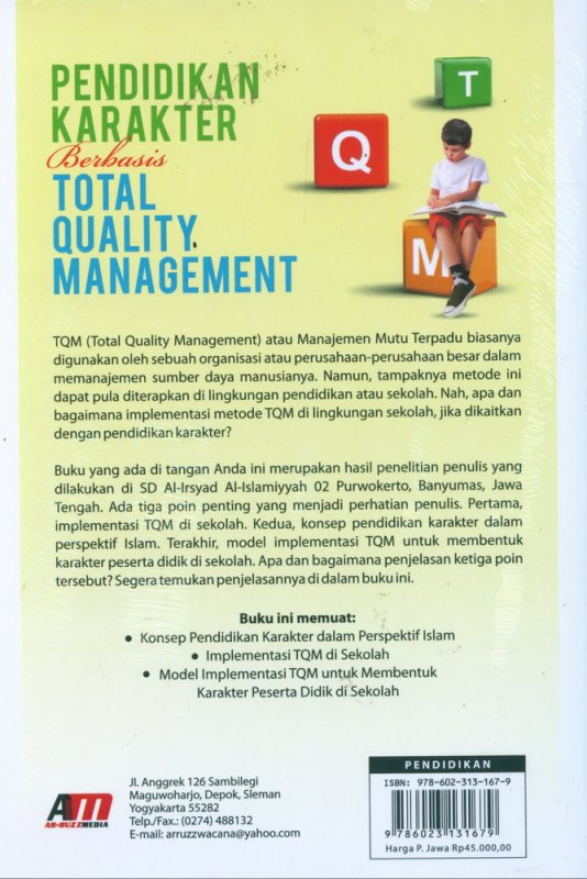 Cover Pendidikan Karakter Berbasis Total Quality Management